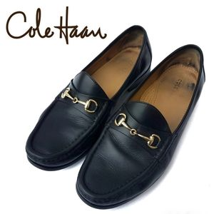 Cole Haan OS Oxfords with Metal Horse Bit Black 10